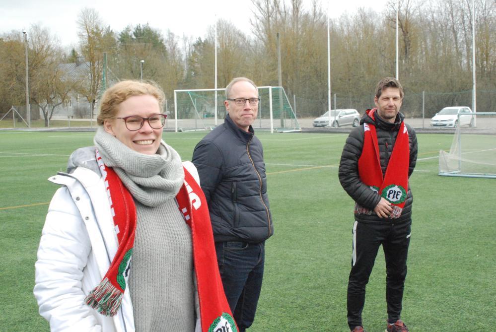 Petra Furu, Petri Abrahamsson och Stefan Strömberg. Foto: Timo Järvenpää